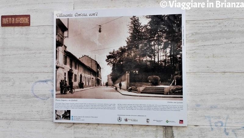 Il pannello di piazza Camperio a Villasanta