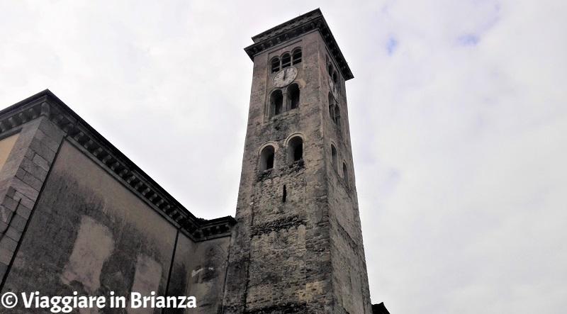 La torre campanaria della chiesa di Cremella