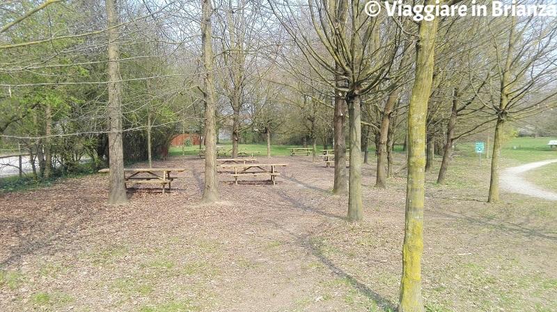 L'area picnic nell'Oasi Lipu di Cesano