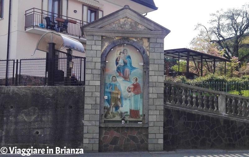 Cibrone, la Madonna tra San Rocco e San Carlo Borromeo