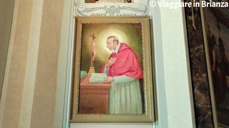 Il dipinto di San Carlo Borromeo nella Chiesa di Cassago