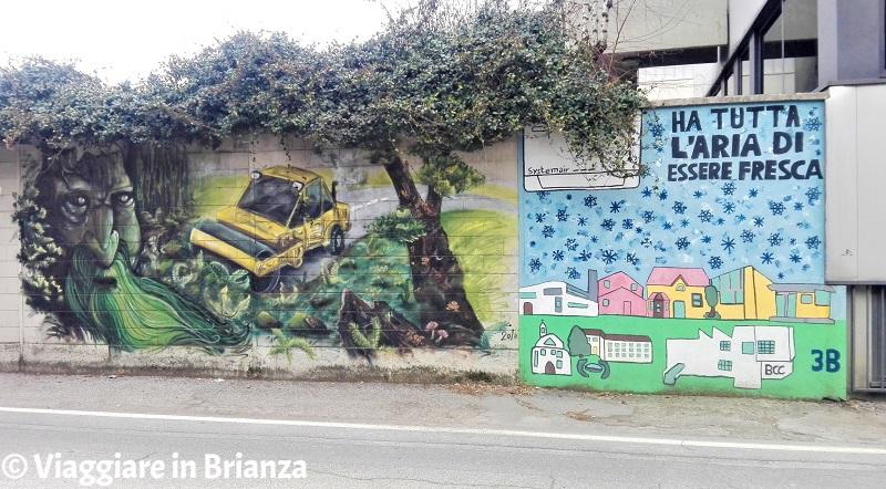 Il murale della scuola media di Barlassina