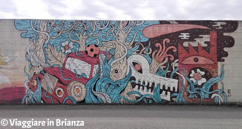 Murales a Barlassina: il disastro dell'Icmesa di Ruggero Asnago