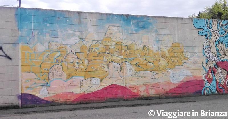 I murales a Barlassina di viale della Repubblica