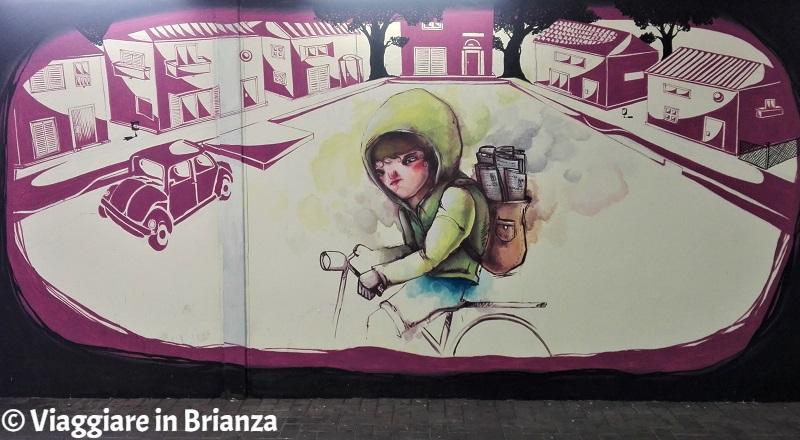 Murales a Seregno, Francesco e La Freccia Azzurra