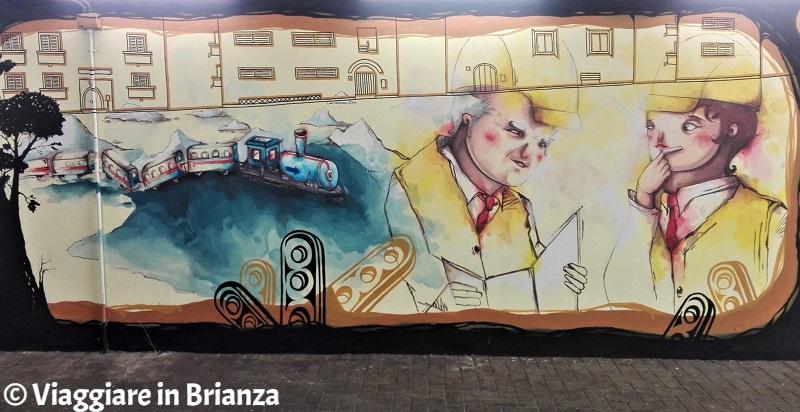 Murales a Seregno, gli ingegneri del Meccano della Freccia Azzurra