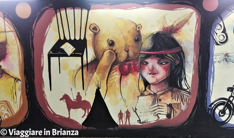 Murales a Seregno, Penna d'Argento nella Freccia Azzurra