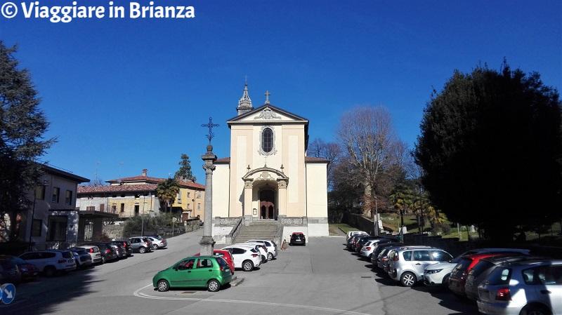 Il parcheggio della Chiesa di Cassago Brianza