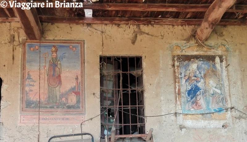 Il porticato di Cascina San Giuliano a Fecchio