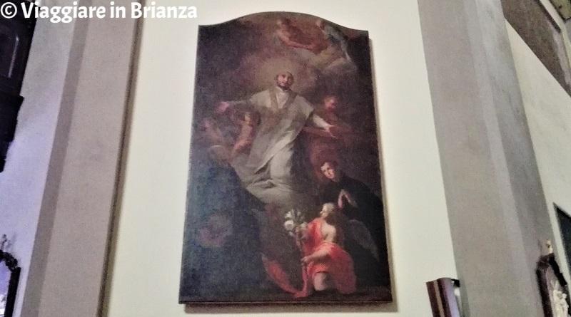 Il Sant'Ignazio in Gloria nella chiesa di Vertemate