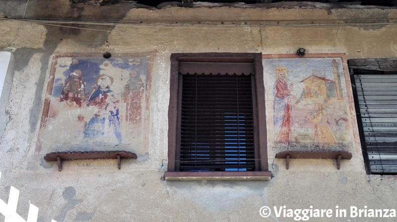 Gli affreschi della cascina Munaia Vecc a Meda