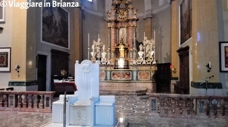 L'altare maggiore della Basilica di Seregno