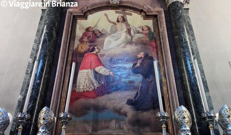 La Basilica di San Giuseppe a Seregno, il Redentore con i Santi Carlo e Francesco d'Assisi