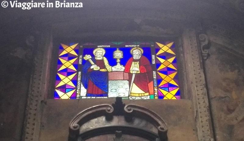 Basilica di San Paolo, la vetrata con i Santi Pietro e Paolo