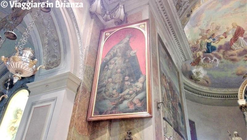 Chiesa di Tabiago, la Madonna in contemplazione di Gesù