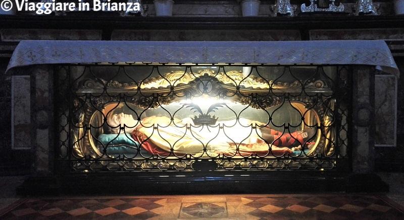 Il corpo di San Quirino nella Basilica di Seregno