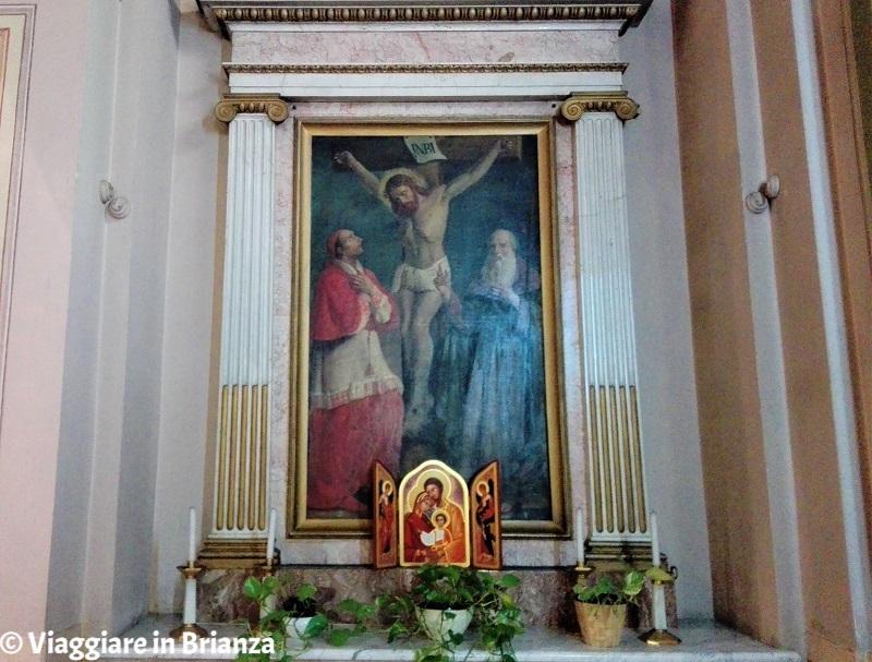 Il Crocifisso con San Carlo e Sant'Antonio Abate nella Chiesa di Tabiago