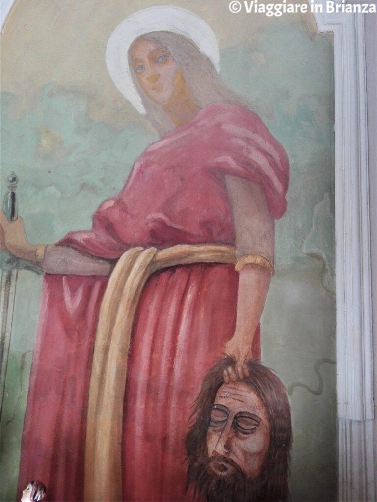 Giuditta e Oloferne nella Cappella della Madonna di Caravaggio a Travecchia