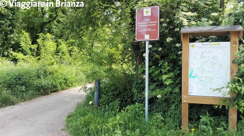 L'ingresso al Bosco Urbano di Lissone da via Sansovino
