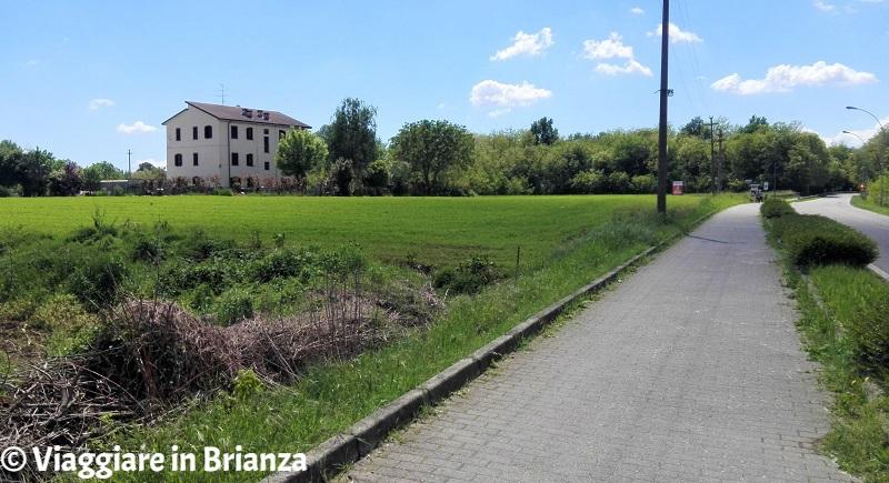 Lentate sul Seveso, la pista ciclabile di via Manzoni