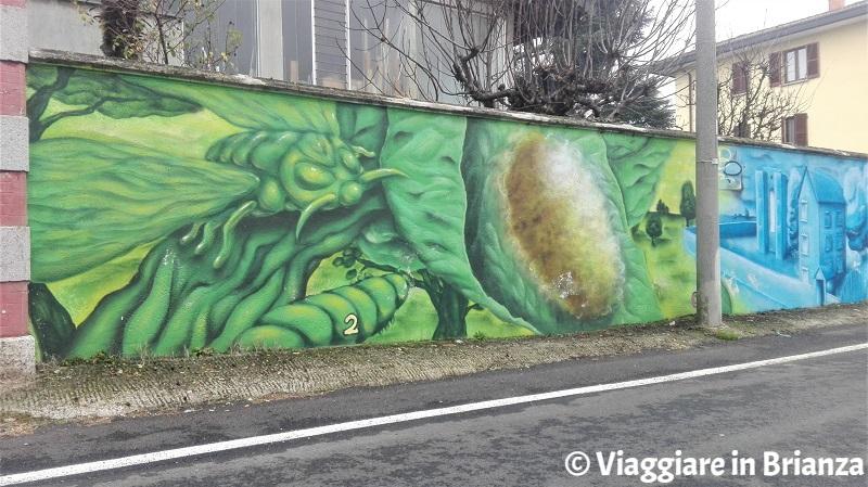 Il murales del baco da seta a Cantù