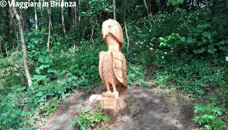 Le sculture in legno a Rogeno