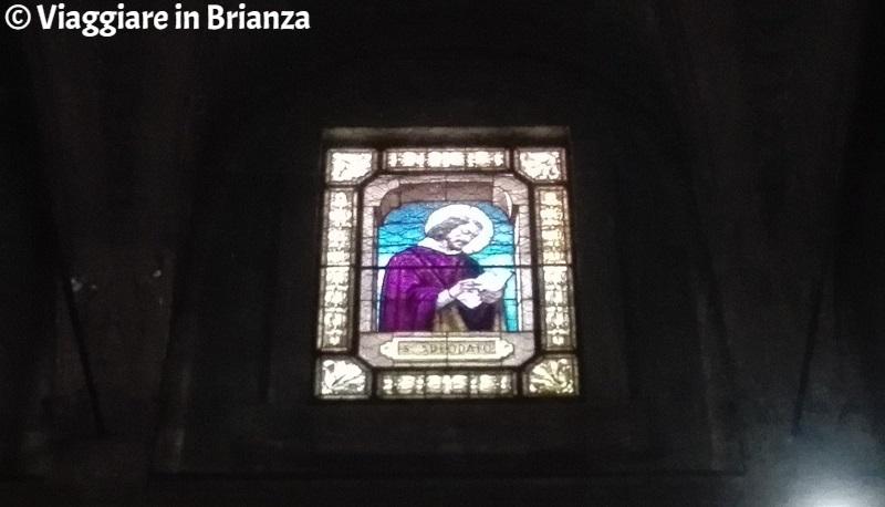 La vetrata di Sant'Adeodato
