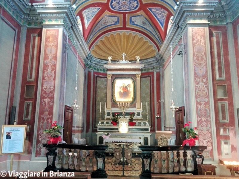 L'altare maggiore del Santuario della Madonna dei Vignoli di Seregno
