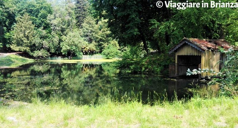 Il laghetto di Villa Besana a Sirtori