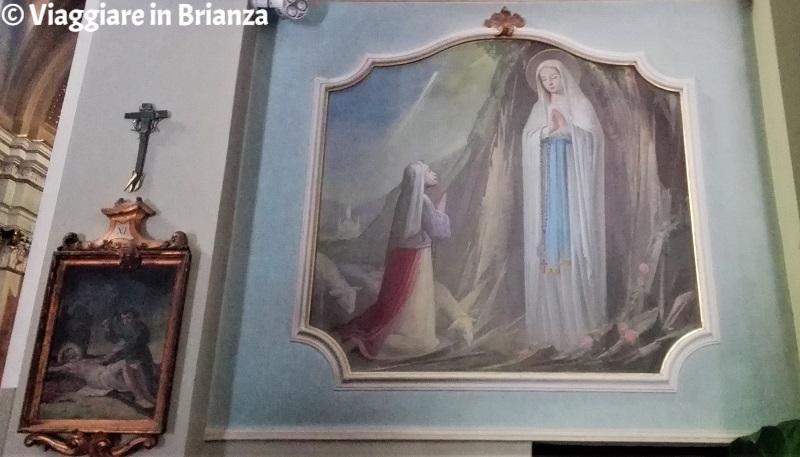 La Madonna di Lourdes nella chiesa di Socco a Fino Mornasco
