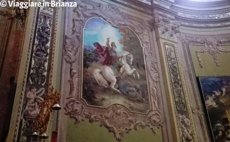 San Giorgio e il drago nella chiesa di Carimate