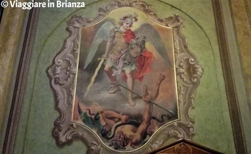 San Michele di Luigi Morgari nella chiesa di Carimate