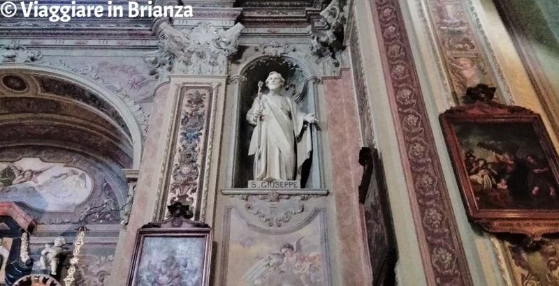 La statua di Giuseppe nella Chiesa di Carimate