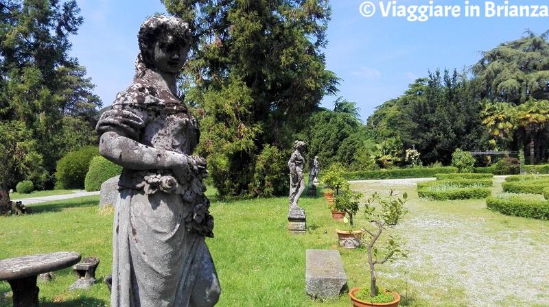 Le statue di Villa Besana a Sirtori