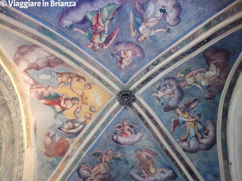 La volta a crociera del Santuario della Madonna dell'Albero di Carimate