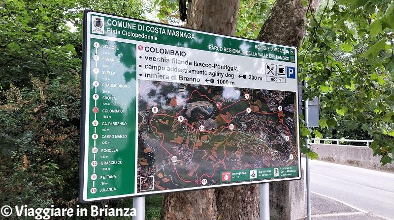 Piste ciclabili in Brianza, la Bevera a Costa Masnaga
