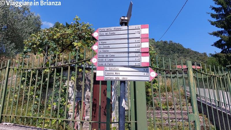 I cartelli segnavia a Crevenna