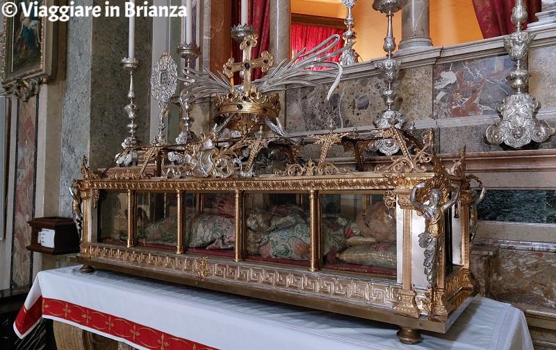 Il corpo di Sant'Ippolito nella chiesa di Rogeno