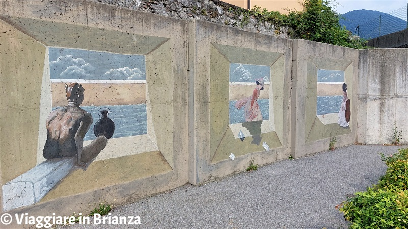 Cosa vedere a Ponte Lambro, i murales di Metlicovitz