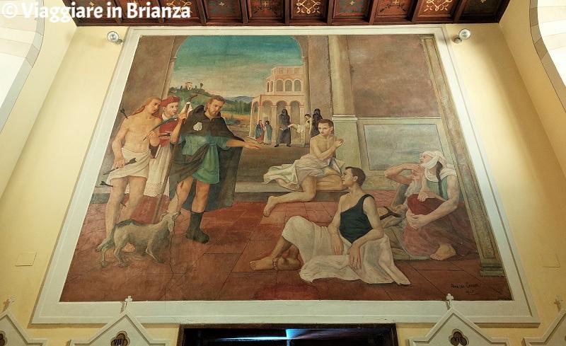 Il dipinto di Amedeo Cornali nella Chiesa di San Rocco a Costa Masnaga