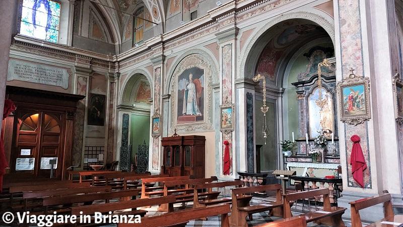 L'interno della Chiesa dei Santi Ippolito e Cassiano a Rogeno