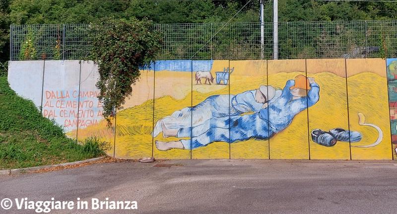 Mezzogiorno, i murales di Merone
