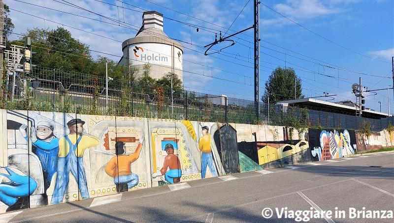 I murales di Giovanni Beretta a Merone