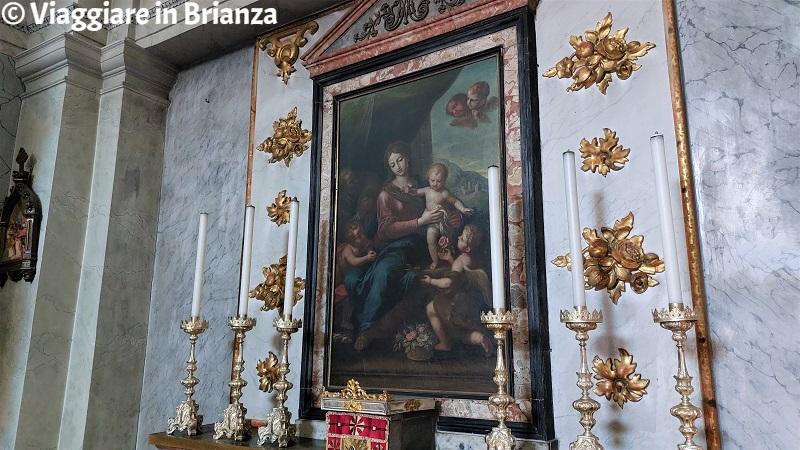 La pala d'altare nella Chiesa di Santa Caterina a Merone