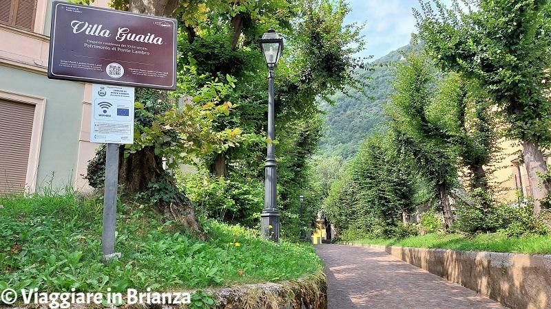Il parco di Villa Guaita a Ponte Lambro