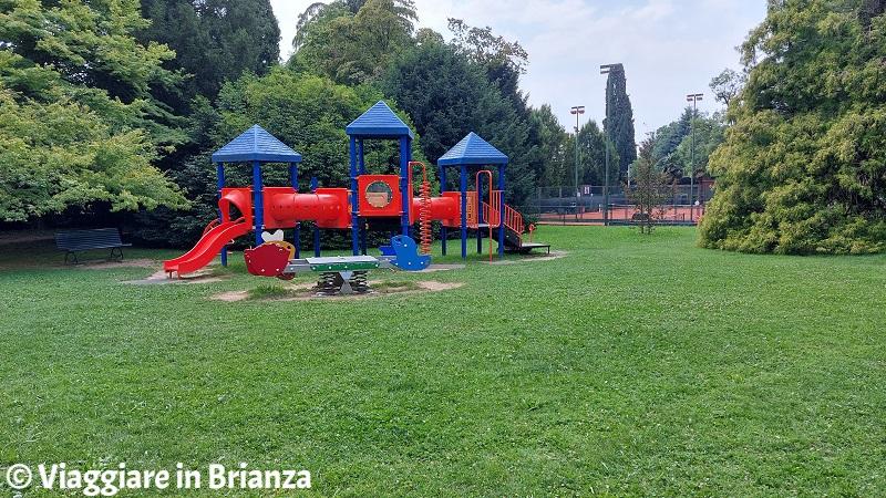 Il parco di Villa Majnoni, l'area giochi