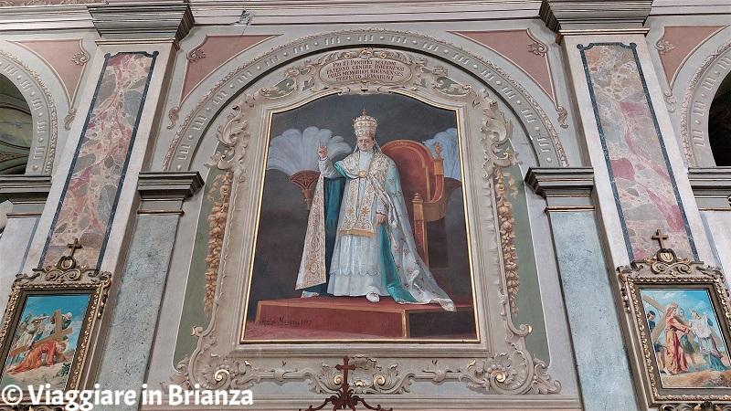 Pio XI nella chiesa di Rogeno
