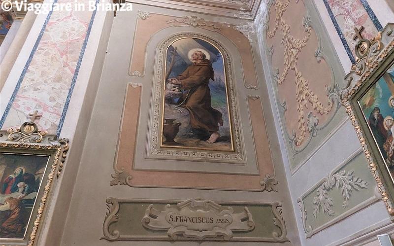 San Francesco nella chiesa di Rogeno