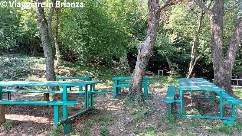 I tavoli alla Croce Pessina di Erba