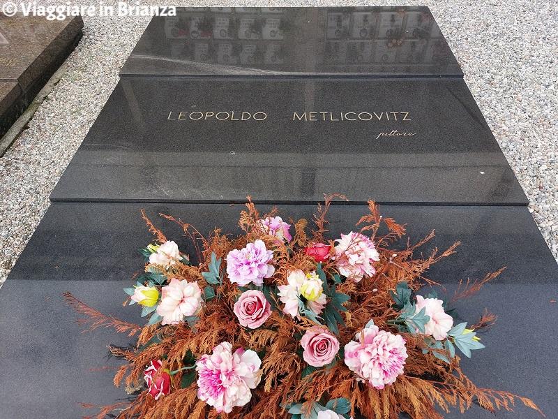La tomba di Leopoldo Metlicovitz a Ponte Lambro